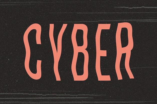 Texto de distorção de transmissão de palavra cibernética
