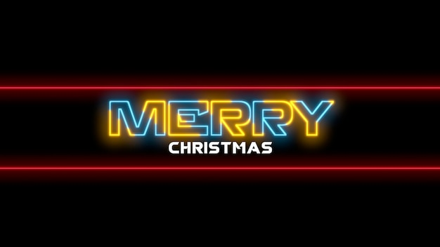 Texto de introdução feliz natal na moda e fundo do clube com texto e linhas brilhantes. ilustração 3d elegante e luxuosa para modelo de clube e entretenimento