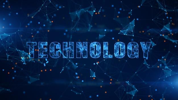 Texto de tecnologia, conexão de dados digitais de tecnologia