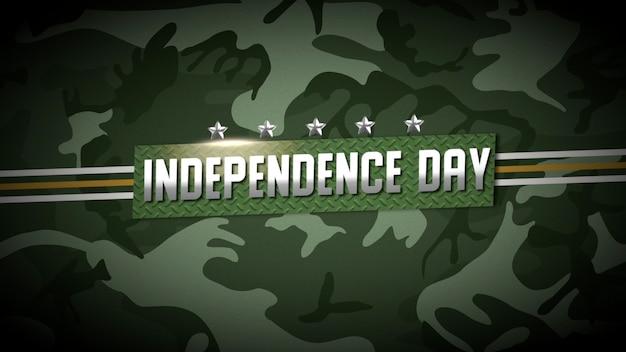 Texto do dia da independência sobre antecedentes militares com padrão de defesa verde