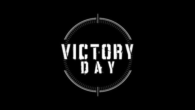 Texto do dia da vitória em antecedentes militares com pontaria