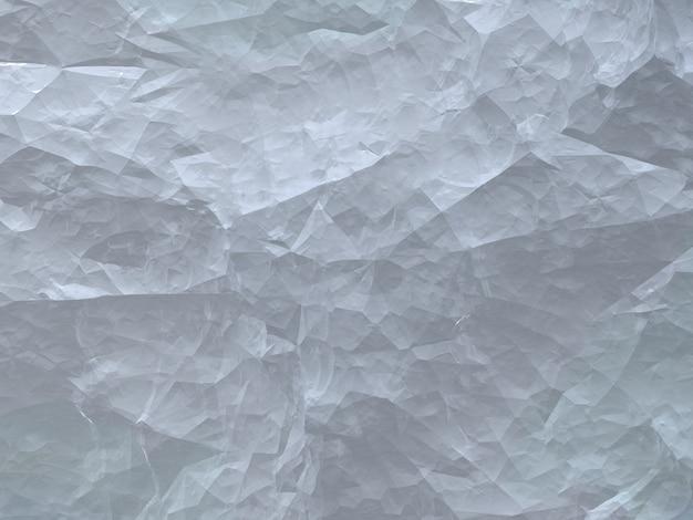 Textura 3d branco de inverno papel brilhante amassado, pedra, neve