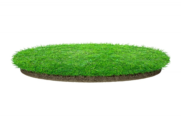 Textura abstrata da grama verde. grama verde de círculo isolada