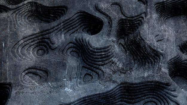 Textura abstrata de relevo feita de madeira, pedra ou outro material.