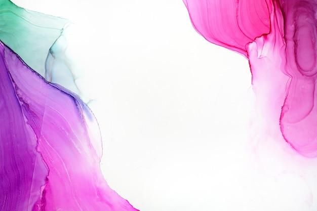 Textura abstrata de tinta a álcool, foto macro