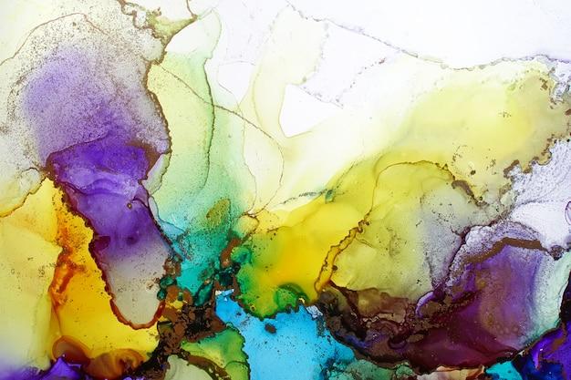 Textura abstrata de tinta de álcool