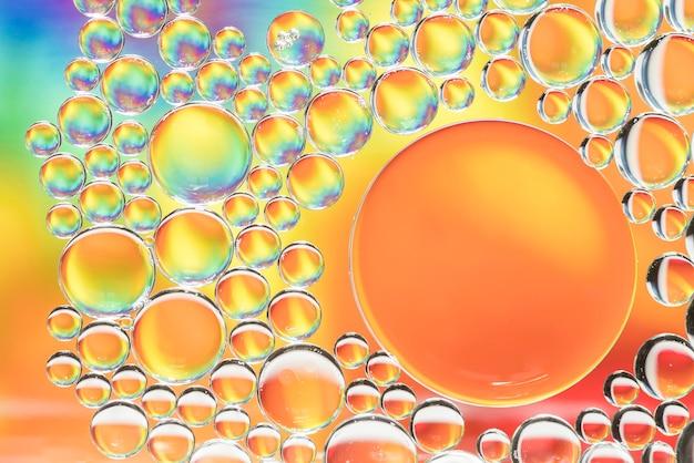 Textura abstrata multicolorida de bolhas diferentes
