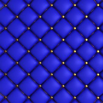 Textura acolchoada azul