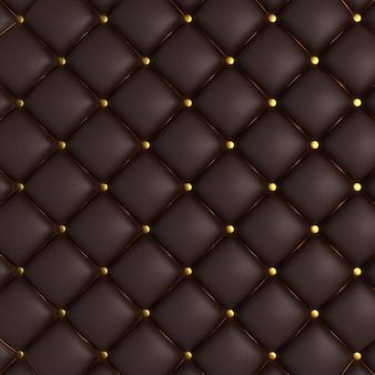 Textura acolchoada Preto