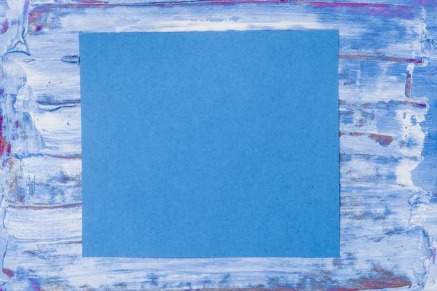 Textura acrílica abstrata com conceito de quadro