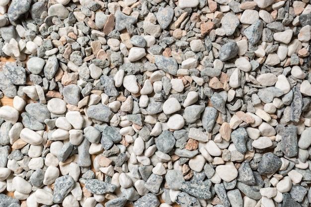 Textura aproximada de pedras e seixos coloridos