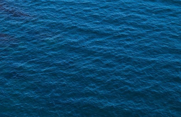 Textura azul da água do mar