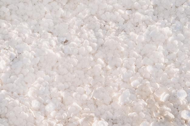 Textura branca de grandes flocos de sal