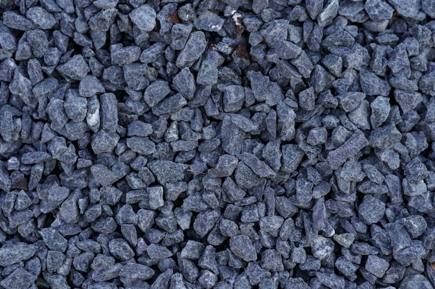 Textura cinza do solo de pequenas rochas.
