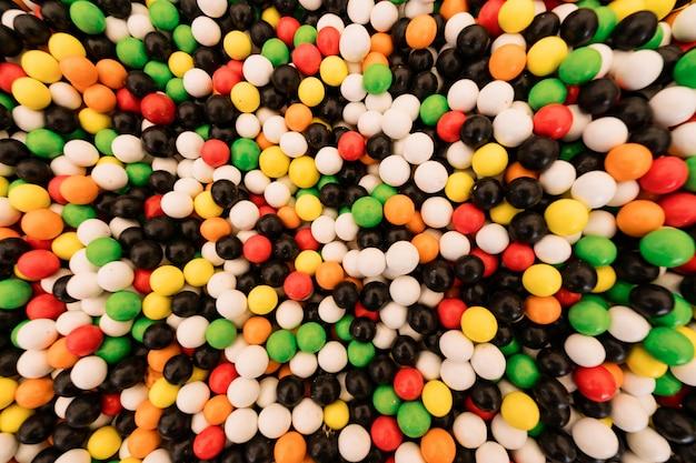 Textura colorida de doces esféricos