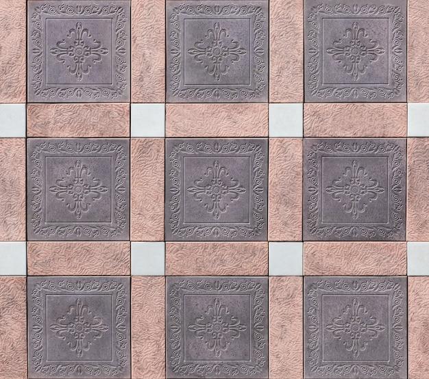 Textura colorida de uma parede de pedra