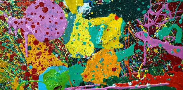 Textura colorida do fundo do sumário da pintura a óleo.