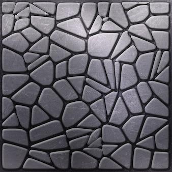 Textura com efeito metálico