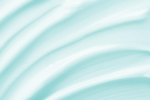 Textura cremosa de loção cosmética