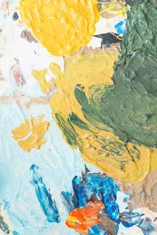 Textura cremosa de pano de fundo de pintura de cor misturada