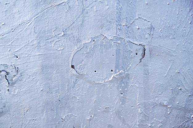 Textura da parede com gesso velho, pintado de prata