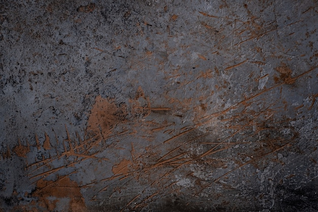 Textura da parede de concreto preto cortes enferrujados. plano de fundo para o menu ou protetor de tela