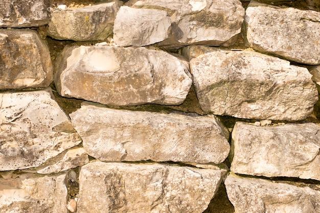 Textura da parede de pedra branca velha para o fundo