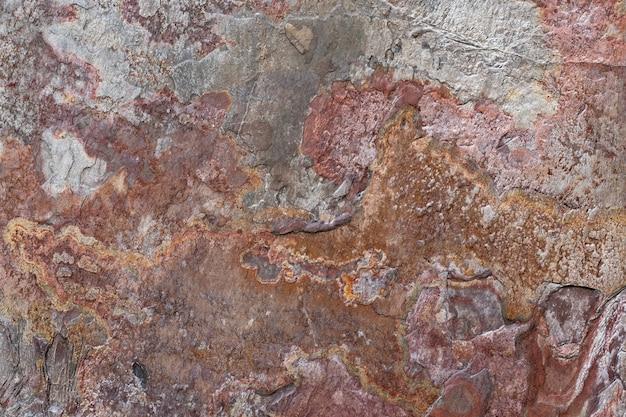 Textura da parede marrom. pano de fundo de pedra do grunge, fundo abstrato, texturas de granito, azulejos antigos, decadência, padrão natural, papel de parede sujo. superfície enferrujada.