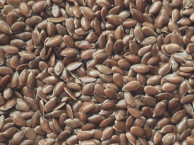 Textura da semente de chia, close-up. o conceito de alimentação saudável.