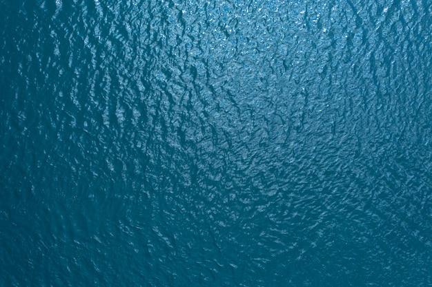 Textura da superfície da água azul