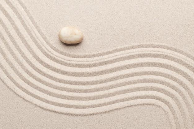 Textura da superfície da areia arte do fundo do conceito de equilíbrio