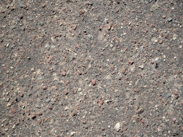 Textura da superfície da estrada de asfalto pedregoso