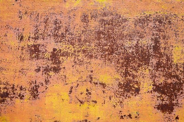 Textura da velha parede de ferrugem do grunge