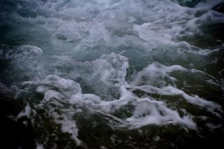 Textura de água escaldante, a superfície