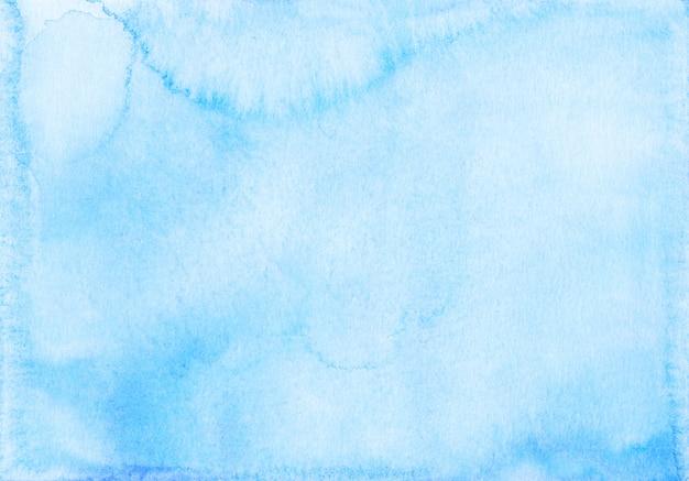 Textura de aquarela de fundo azul claro pintada à mão.