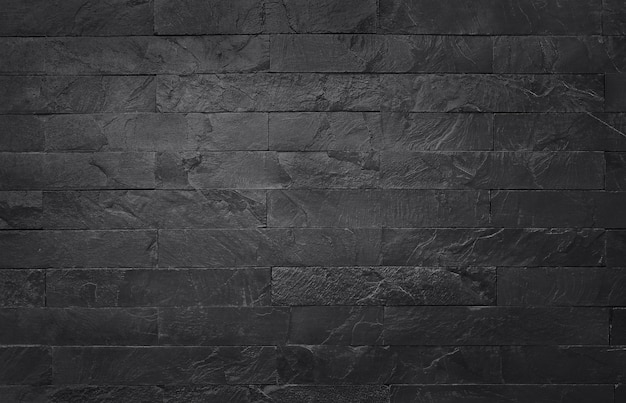 Textura de ardósia preta cinza escura com alta resolução, fundo de parede de pedra preta natural.