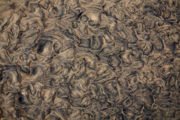 Textura de areia da praia fuerteventura canárias
