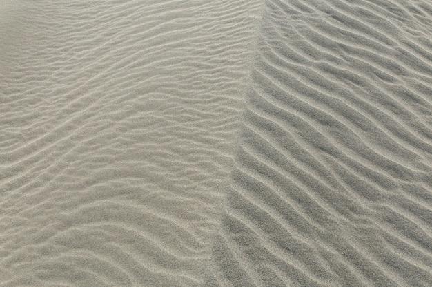 Textura de areia, padrões de areia no deserto
