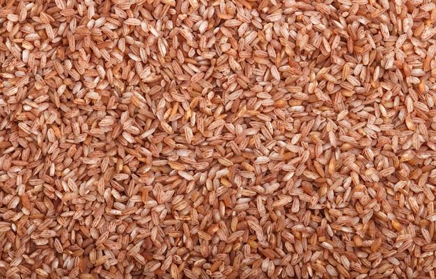 Textura de arroz integral não polido. vista superior, close-up.