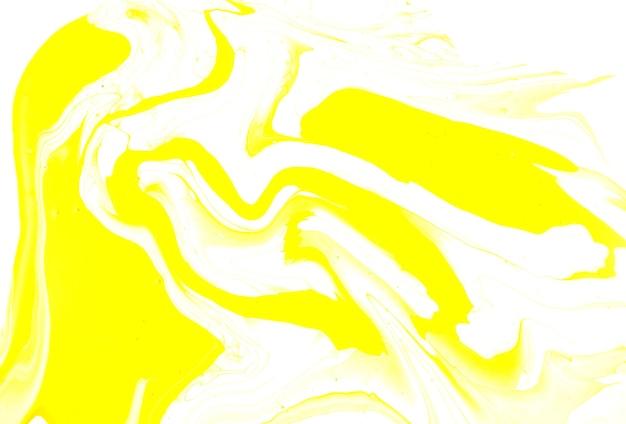 Textura de arte fluida de mármore líquido amarelo feito à mão pintura acrílica desenhada à mão abstrata