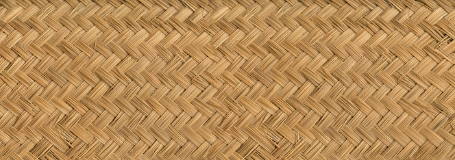 Textura de bambu tecido