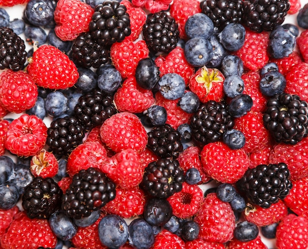Textura de berry, vista superior plana leigos.