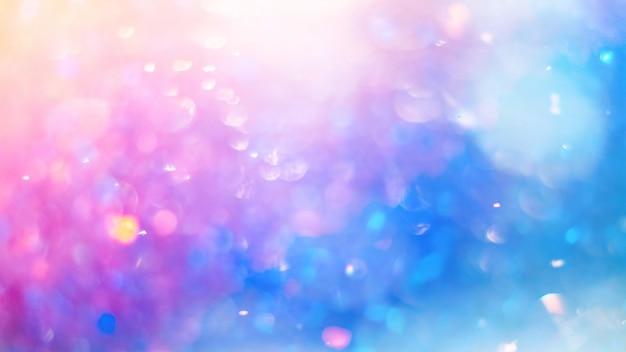 Textura de bokeh colorido desfocado. cores brilhantes saturadas da primavera