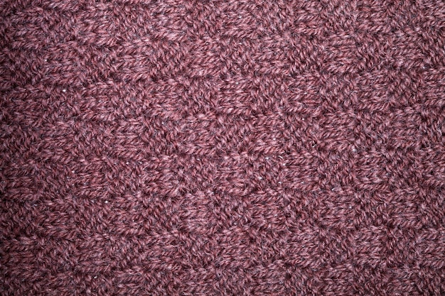 Textura de cachecol marrom de malha.