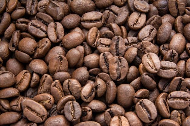 Textura de café acima vista fundo