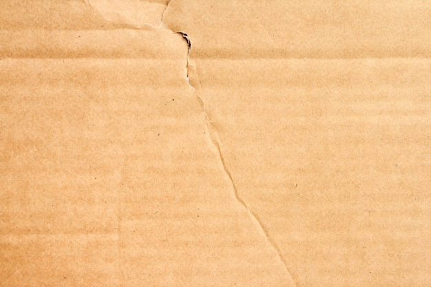 Textura de caixa de papel marrom ou folha de papelão ondulado