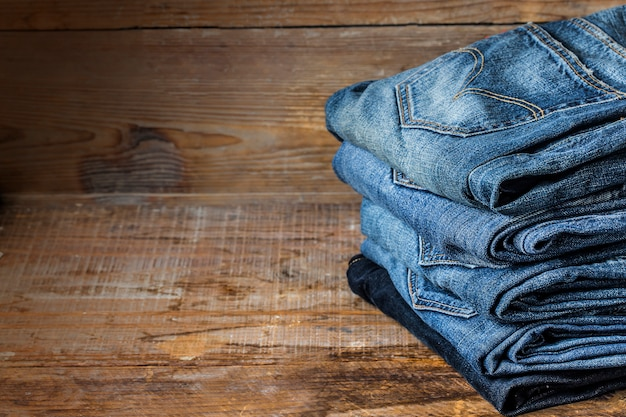 Textura de calças de ganga para qualquer fundo