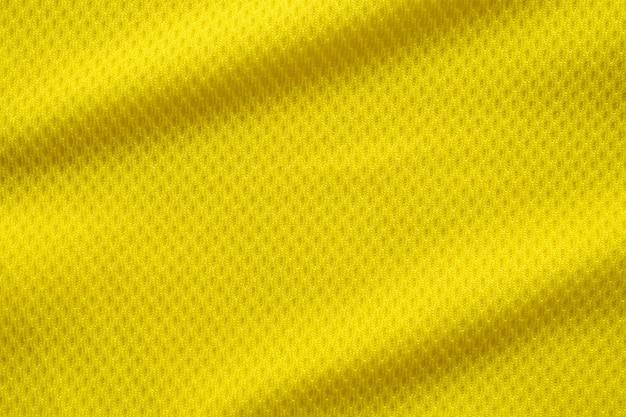 Textura de camisa de futebol amarela
