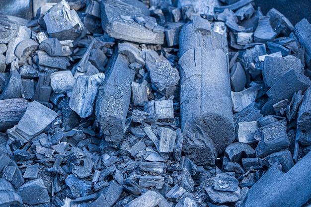 Textura de carvão fundo abstrato carvões queimados