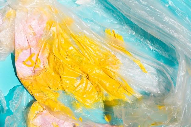 Textura de celofane brilhante pintado